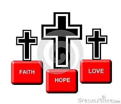 Graphic of three crosses