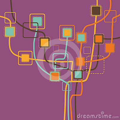 Graphic tree pattern