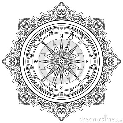 compass coloring pages - graphic wind rose compass stock vector image 67459722
