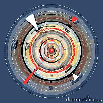 Bright abstract circular element