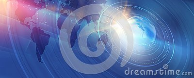 Graphical modern digital world news background concept series Stock Photo