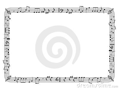 Graphical music frame