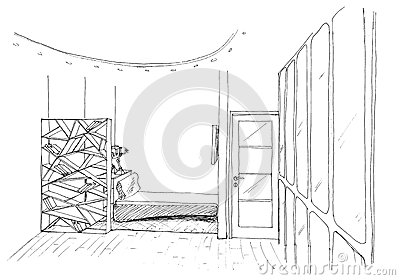 Graphical sketch of an interior