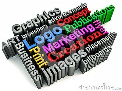 Graphics branding concept