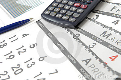 Graphics with calendar and calculator