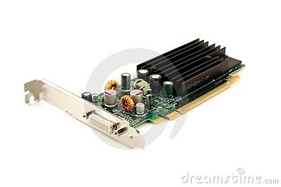 Graphics card isolated on white