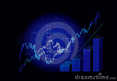 Graphiques de marché boursier