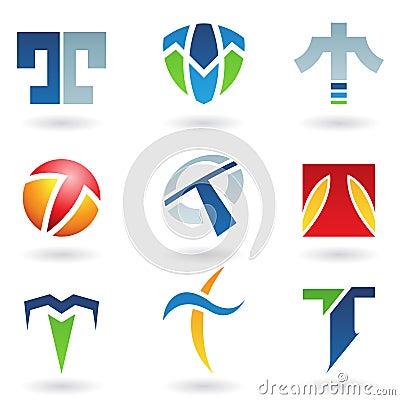 Graphismes abstraits pour la lettre t image stock image for Logos con letras