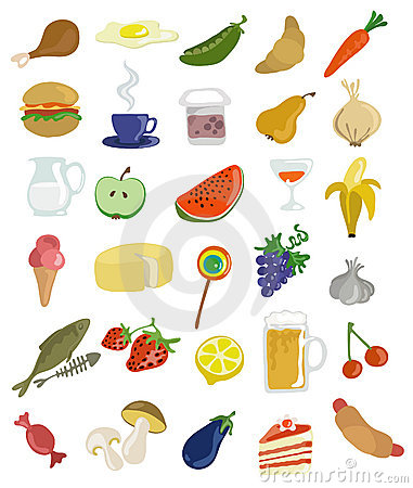 Graphismes de nourriture