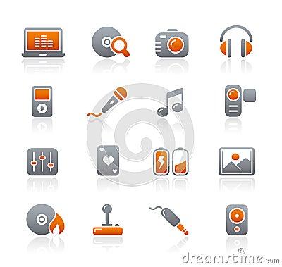 Graphite Icons // Media & Entertainment