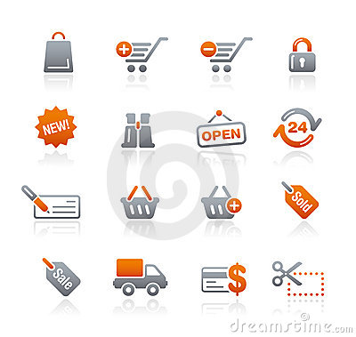 Free Graphite Icons // Shopping Stock Photography - 11682492