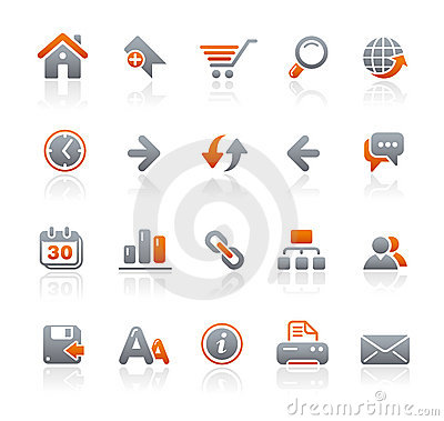 Free Graphite Icons // Web Site Royalty Free Stock Photos - 11587638
