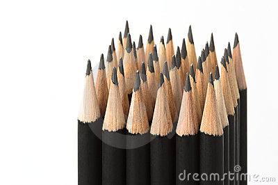 Graphite pencils in block