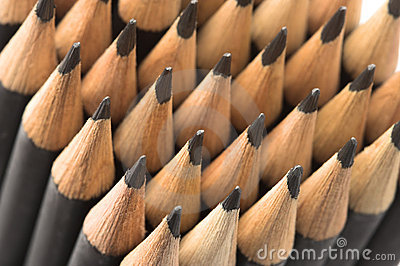 Graphite pencils close-up