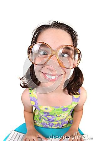 Grappig kind dat haar ogen kruist royalty vrije stock afbeelding afbeelding 10091666 - Ogen grappig ...