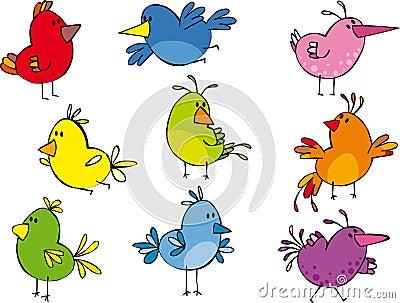 Grappige kleine vogeltjes