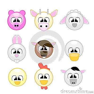 Grappige landbouwbedrijfdieren voor jonge geitjes