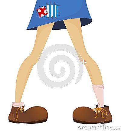 Grappige voeten van tiener