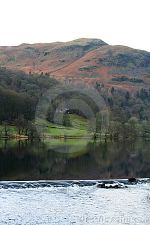 Grasmere weir in the English Lake District