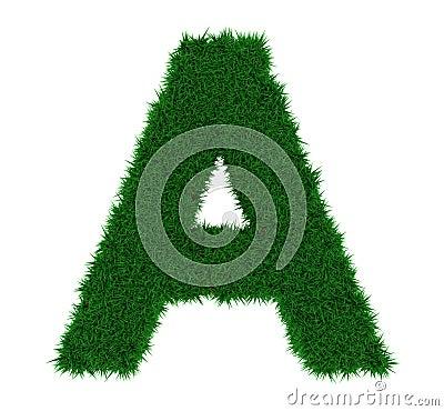 A grass letter