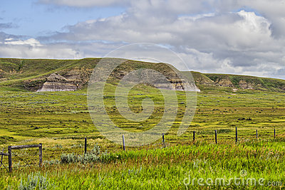 Grass covered hills