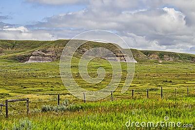 Grass covered hills