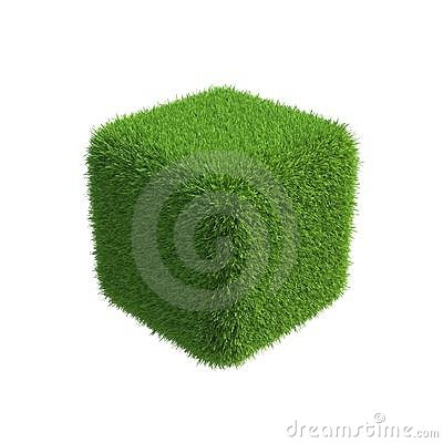 Free Grass Cube For Use In Design Stock Image - 23944381