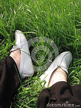 Grass feet