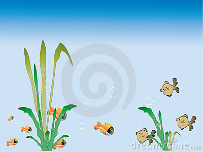 Grass and fish