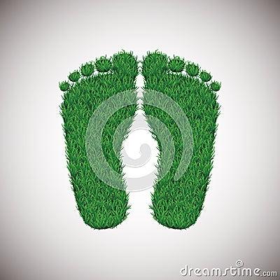Grass footstep