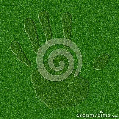 Grass Handprint