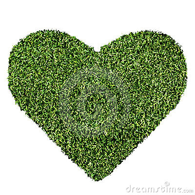 Grass Heart Shape