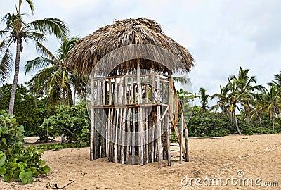 Grass Beach Hut Lifeguard Stand