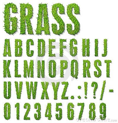 Grass letters