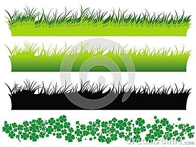 Grass set and clover set