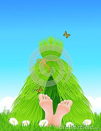 Grass shelter