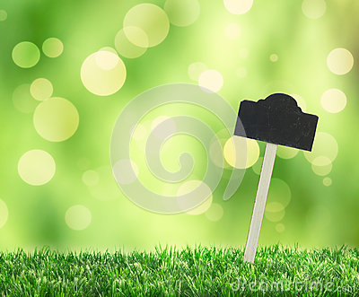 Grass With Sign