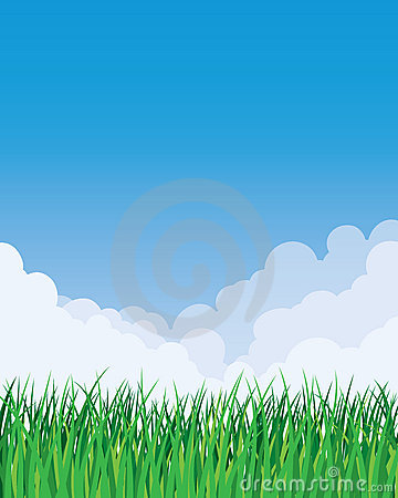 Grass and Sky Background
