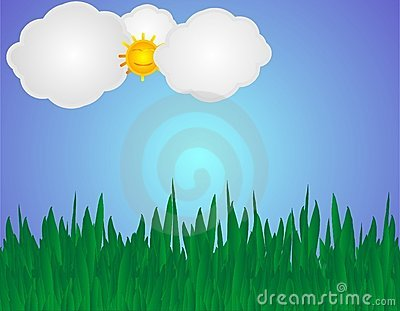 Grass and sky illustration