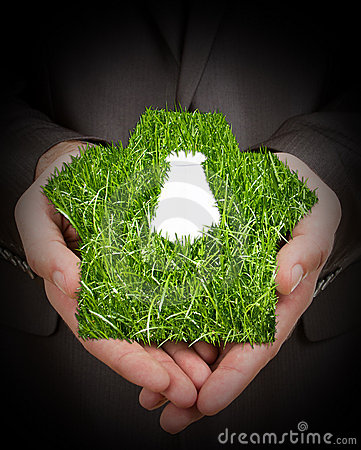 Grass suit in hands