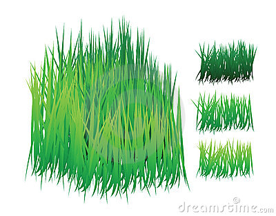Grass vector with different shades
