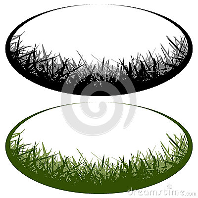 Grass vector logo Stock Photo