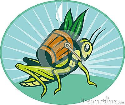 Grasshopper carry basket leaves