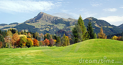 Grassland and green mountains at Kitzbuhel - Austr