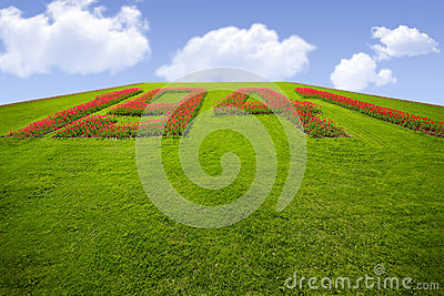 Grassy hill with number 1941