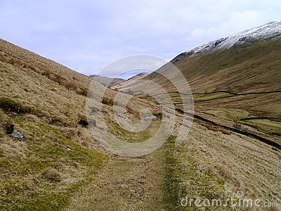 Grassy path in the Boredale valley