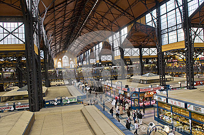 Grate market hall , Budapest Editorial Photo