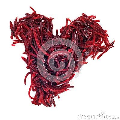Grated beet heart