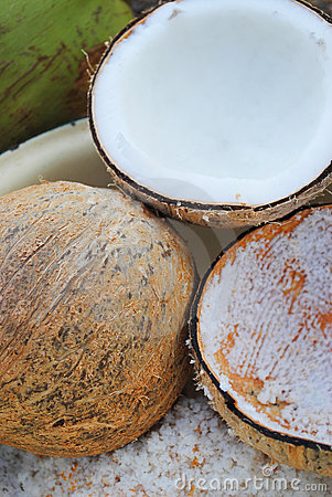 The grater and coconut