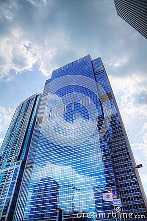 Grattacieli nel Chicago del centro, Illinois